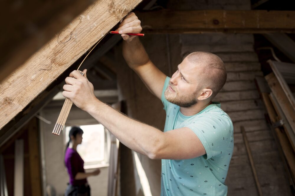 Zac building a house