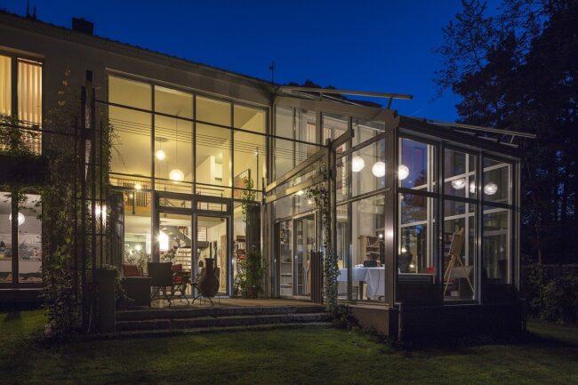 winter garden, glass, canopy
