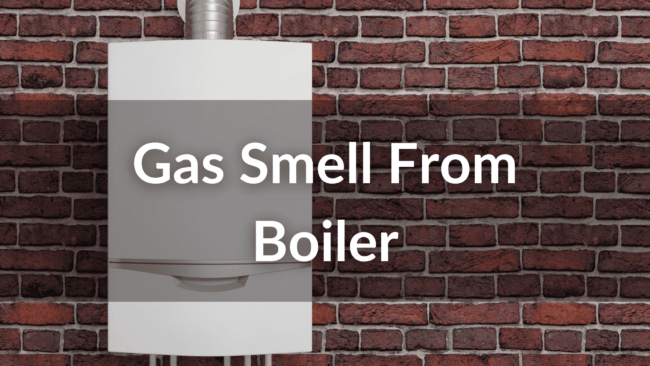 smell gas from boiler